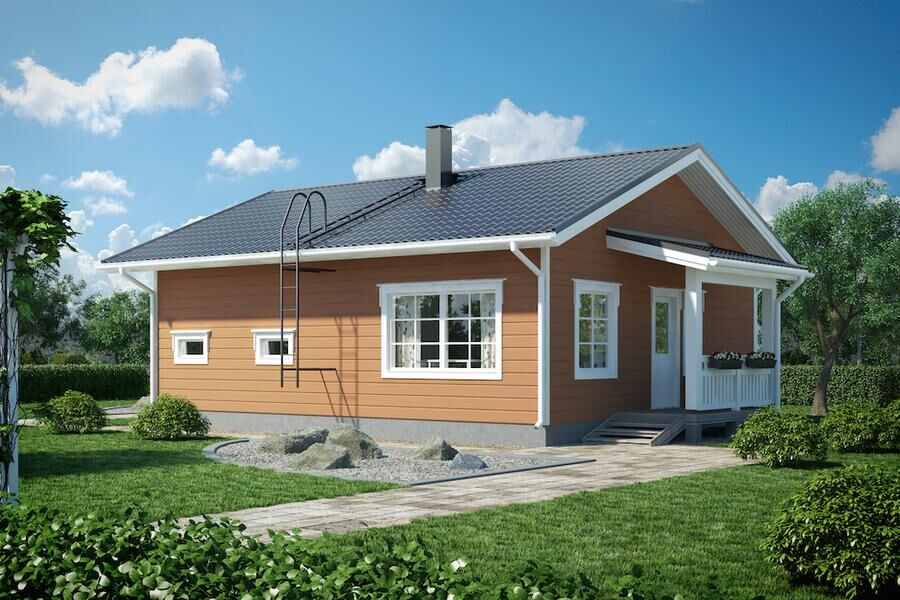 Litet hus med gott om förvaring. Foto: Mammuthus