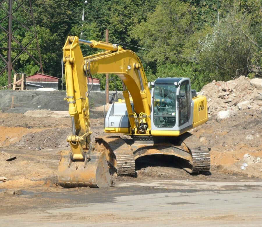 571742-track-type-excavator-on-ground