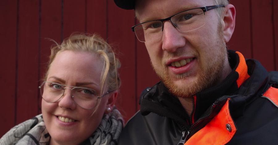 Både Jonas och sambon Linda är nöjda månskensbönder,