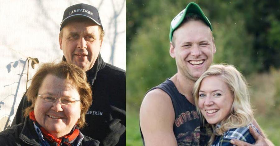 Bitte Persson och Bertil Larsson från Larsvikens gård i Viken är tillsammans med TV-kändisarna Stefan Hildingsson och Hanna Sundin, Hassela, med på listan över Årets lantisar 2016.