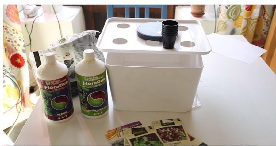 Hemmabygge. Gör din egen låda för hydroponisk odling.