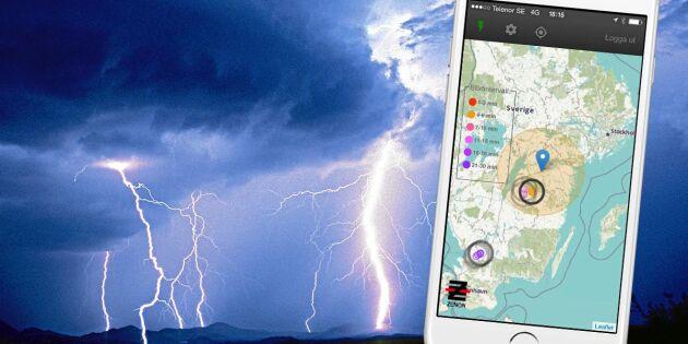 Håll koll på blixten där du bor – få varning i din mobil