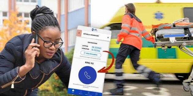 SOS Alarm lanserar 112-app – ska fastställa var inringaren finns