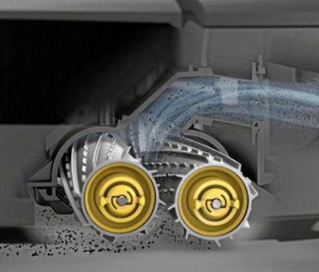 Enligt samma princip som hans robotdammsugare samlar upp damm och smuts tänker sig Johan Fransson att skörderobotens två valsar skulle snurra upp gräset i en tank.