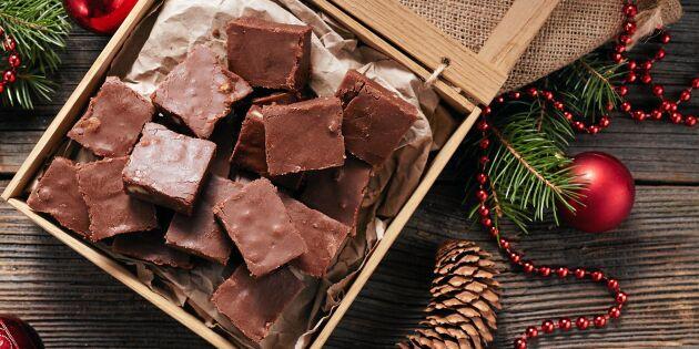 Sockersnål chokladfudge med mandel