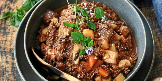 Höstig köttfärssås med rotfrukter