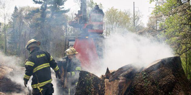 MSB varnar för riskfyllt skogsarbete