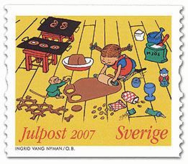 Julfrimärke av Ilon Wikland 2007.
