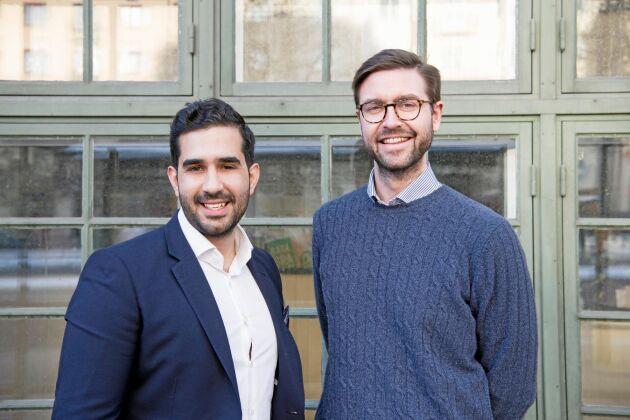 Virkesbörsens Adam Aljaraidah och Per Hedberg.
