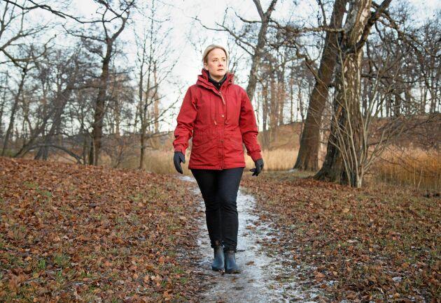 Utomhusluft lindrar Sophie Vrangs eksem. Promenaderna lindrar också stress, som förvärrar eksemet.