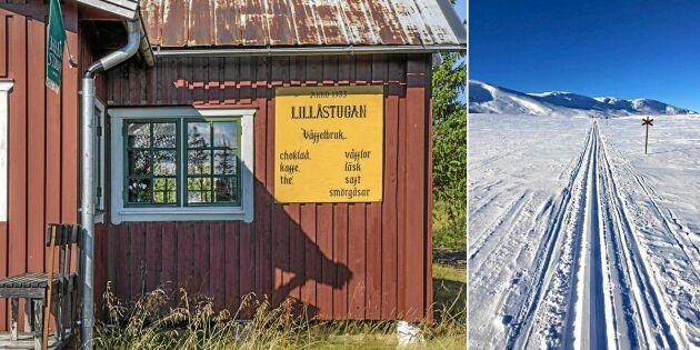Charmig våffelstuga i Jämtland till salu – ligger mitt på fjället!