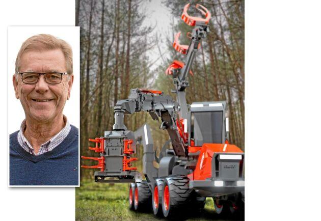Den tvåarmade skördaren ska gå i sena röjningar och tidiga gallringar. Lennart Olofsson, vd för Cintoc, tror på en säljstart innan år 2020.