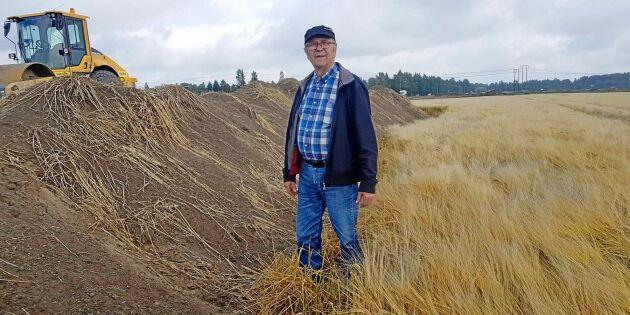 """Åkermark blir väg – """"Vi känner oss bestulna"""""""