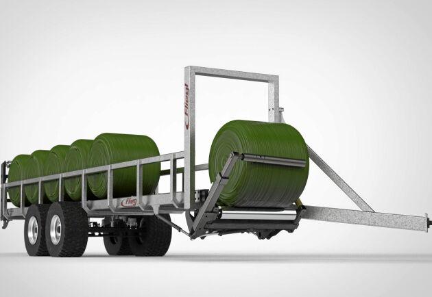Vagnen är utvecklad för att rulla parallellt med traktorekipaget.