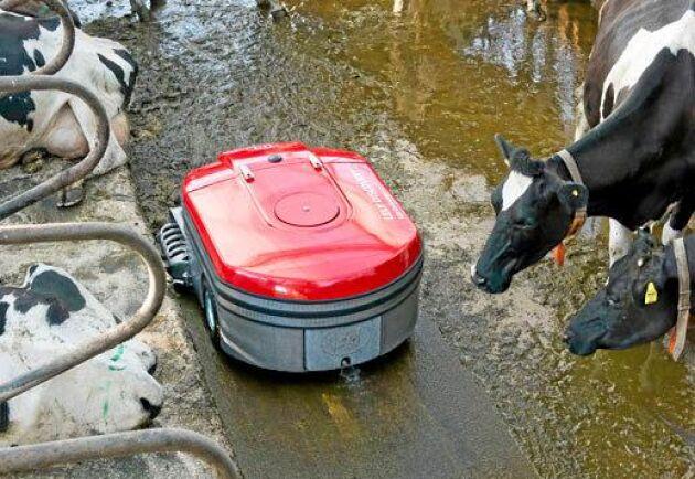 Lelys rengöringsrobot är en av sju innovationer som tilldelats guldutmärkelser i årets Elmia Lantbruk Innovation Award.