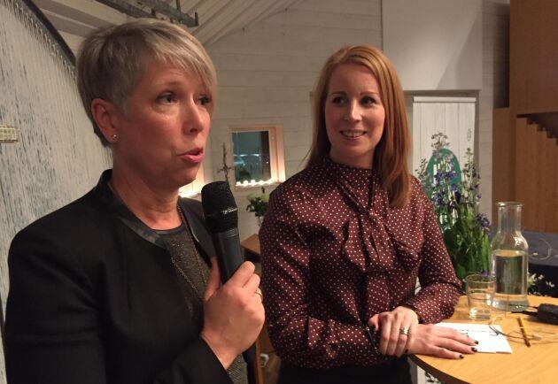 Helena Jonsson, här tillsammans med förstanamnet Annie Lööf.