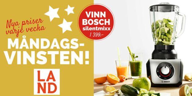 Måndagsvinsten: Tävla om en mixer från Bosch