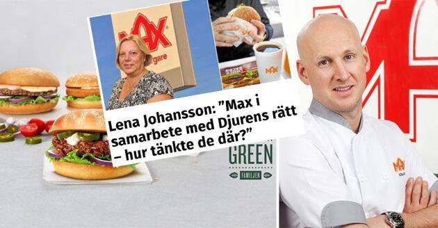 Land Lantbruks politiska chefredaktör ifrågasatte Max tanke med samarbete med Djurens rätt, och fick mothugg.