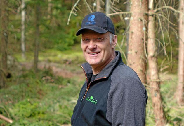 Anders Svensson från skogsentreprenörsföretaget Hallforsen Skog och Maskin.