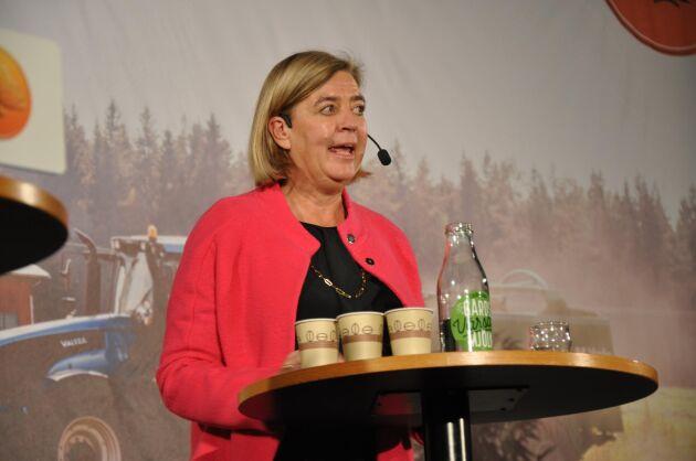 Beredskap. Helena Lindberg, generaldirektör för Myndigheten för samhällsskydd och beredskap, deltog i lantbruksdebatten.