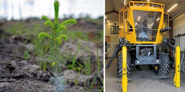 Första bilden på nya planteringsmaskinen