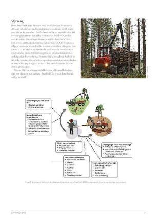 Om bilden: Gubben på bilden kan direkt skicka elektroniska meddelanden till skördare och skotare. Gubben på bilden representerar uppdragsgivaren till de entreprenörer som svarar för avverkningen.Bildtext: Södra Skog kan direkt skicka information till skördare och skotare baserade på datakomstandarden Stanford 2010 och därmed styra avverkningen i realtid.