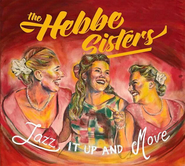 Systrarnas senaste album som de jobbart hårt med. där omslagsbilden är målad av konstnären Daniel Andersson.