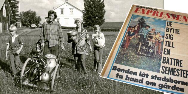 Gröna vågare 1972 bytte till en bättre semester – blev småbrukare i Jämtland