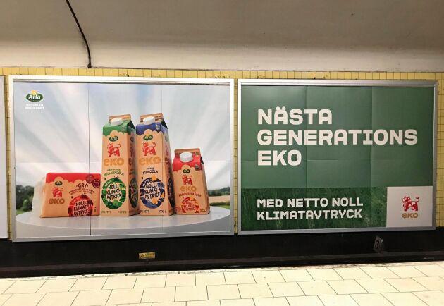 """Arlas kampanj för produkterna med """"netto noll klimatavtryck""""."""