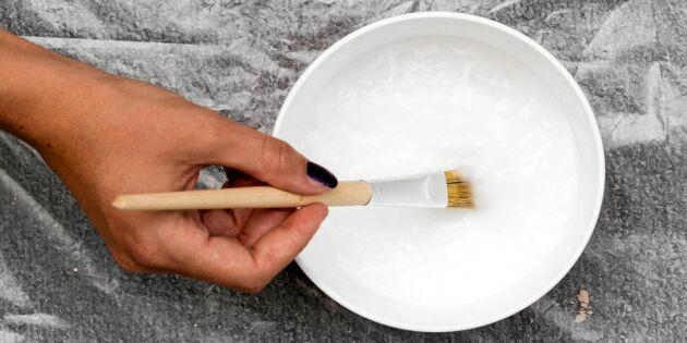 Koka ätbart klister av skafferifynd