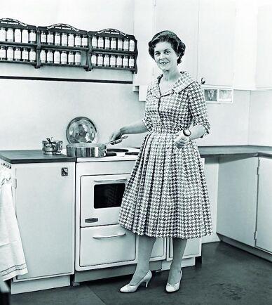 Ryggvänligare arbetshöjd blev standard på 1950-talet.