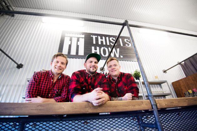 Fredrik Nilsson, Gustaf Ahlin och David Wellborg har precis startat bryggeriet This Is How i Piteå.