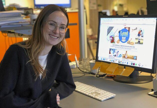 Lands digitala redaktör Emilia Eliasson har skapat Lands digitala skola.