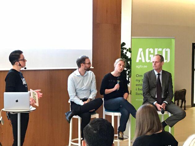 Agfos Lovisa Madås höll i utfrågningen av panelen som bestod av Daniel Skavén Ruben, Liisa Smits och Per Arfvidsson.