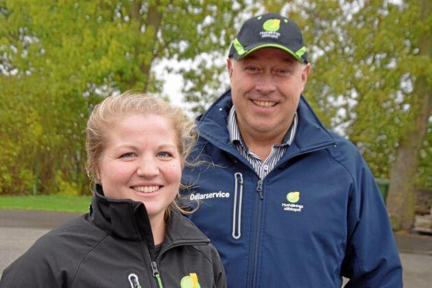 Alla kan bli precisionsodlare säger Tua Holmgren och Fredrik Hansson på Odlarservice, Hushållningssällskapet Skåne.