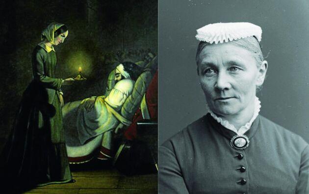 Sveriges första sjuksköterska Emily Rappe gick i lära hos Florence Nightingale.