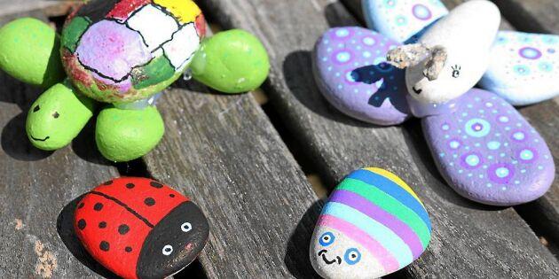 Enklaste pysslet – gör fantasifulla husdjur i sten!
