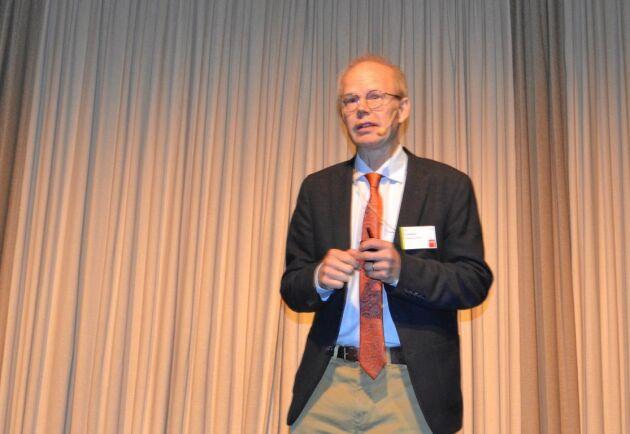 Per Frankelius, docent vid Linköpings universitet, slog fast att innovation är bästa vägen för framtidens mat.