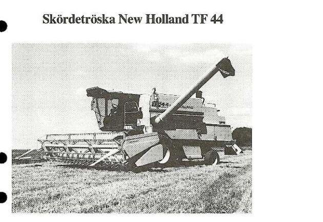 Även skördetröskor testades, här är en rapport från 1984 på en New Holland.