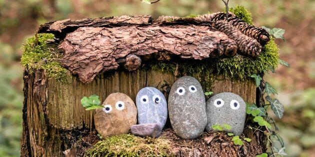 Måla gubbar och monster på sten