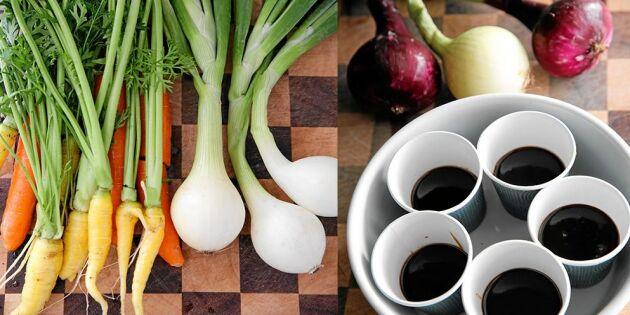 Koka egen grönsaksbuljong – 4 enkla steg