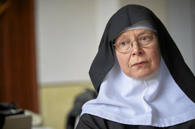 Moder Christa Claesson från klostret Mariavall.