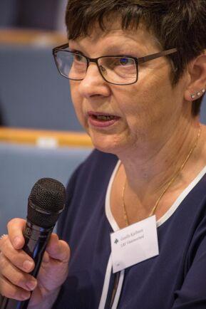 Gunilla Kjellsson är regionordförande LRF Västernorrland och var på plats vid ladugården under dagen.