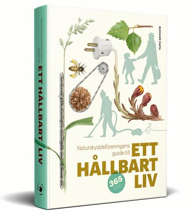 """Vackra illustrationer gör """"Naturskyddsföreningens guide till ett hållbart liv"""" till en lättläst och rolig handbok."""