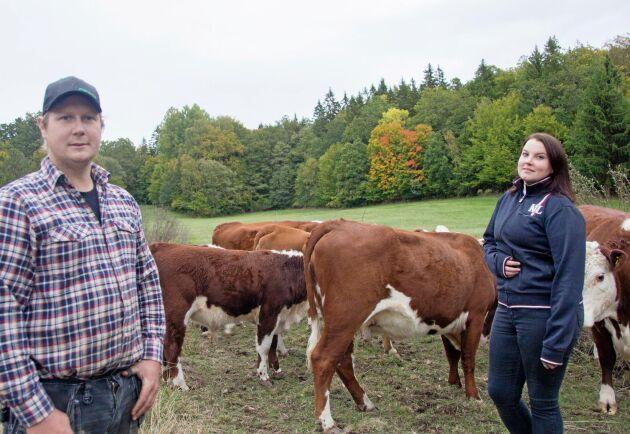 Robin Andersson och Pernilla Olsson träffades när de mellan 2004 och 2007 läste på lantbruksskolan i Bräkne-Hoby.