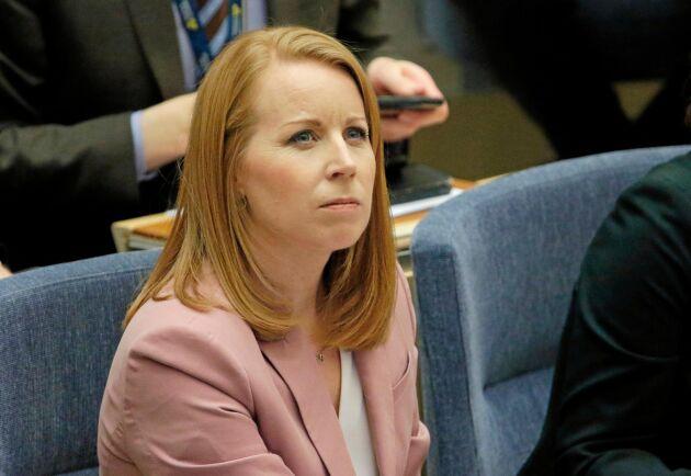 Arkivbild. Annie Lööf under budgetomröstningen i riksdagen om M+KD-budgeten 12 december 2018.