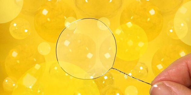 Vilken härlig såpa! Så enkelt blandar du egna bubblor