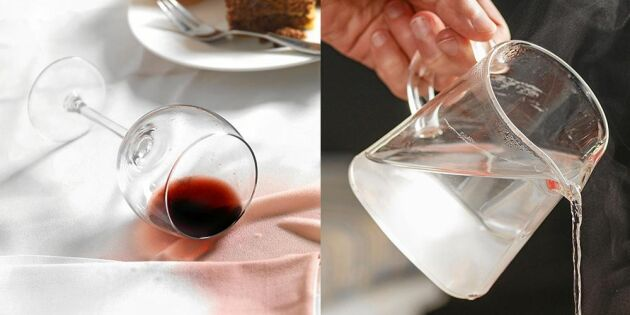 Vinfläck på duken? Så enkelt tar du bort den!