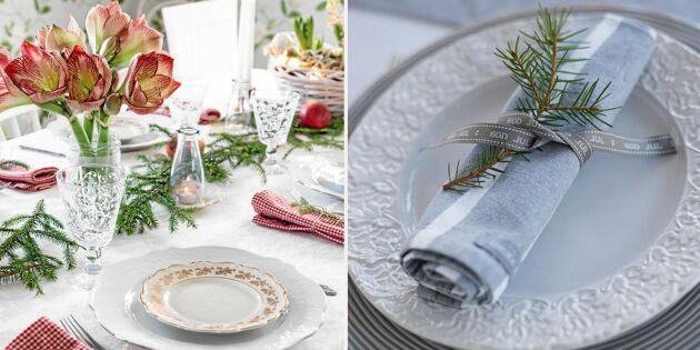 Duka vackert till jul - 8 bilder att inspireras av