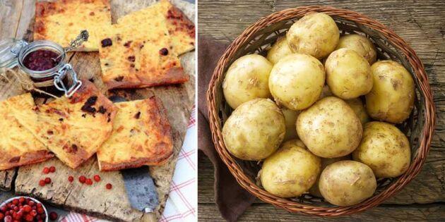 Mumsig och matig ugnspannkaka med potatis och fläsk – superenkel att göra